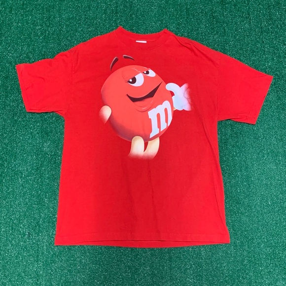 Vintage Other - Vintage M&M Red Tee Size XL 90s